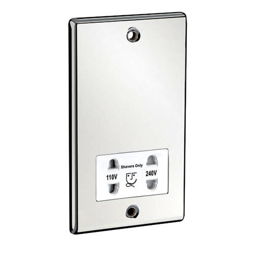 Additional image for Dual Voltage Shaver Socket (Chrome).
