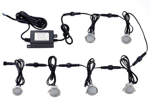 Additional image for 6 x Round LED Plinth Lights & Driver (Cool White Light).