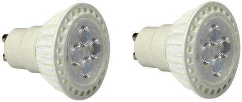 Additional image for 2 x GU10 5W High Output LED Lamps (Warm White).