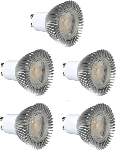 Additional image for 5 x GU10 5W Dimmable COB LED Lamps (Cool White).