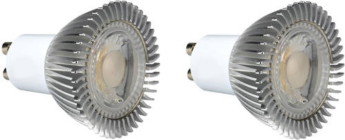 Additional image for 2 x GU10 5W Dimmable COB LED Lamps (Warm White).