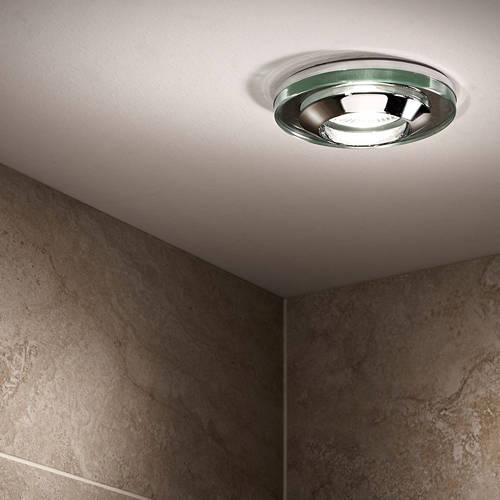 Additional image for 4 x Spot Light & Cool White LED Lamps (Glass & Chrome).