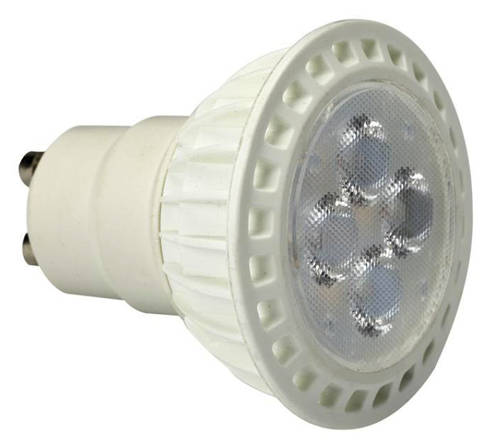 Additional image for 5 x Spot Light & Warm White LED Lamp (Glass & Chrome)