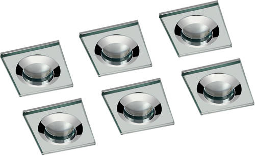 Additional image for 6 x Spot Light & Warm White LED Lamp (Glass & Chrome)