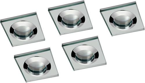 Additional image for 5 x Square Shower Light Fitting (240v, Glass & Chrome).