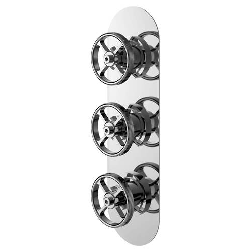Additional image for Shower Valve With Industrial Handles (2 Outlets).
