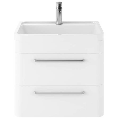 Additional image for Wall Hung Vanity Unit & Basin 600mm (Pure White).
