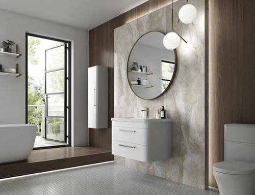 Additional image for Wall Hung 800mm Vanity Unit & BTW Pack (Pure White).