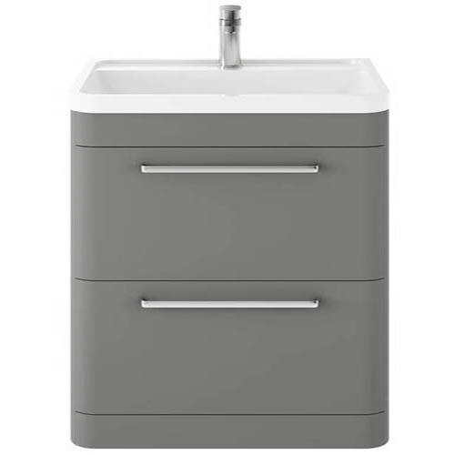 Additional image for Floor Standing Vanity Unit & Basin 800mm (Cool Grey).