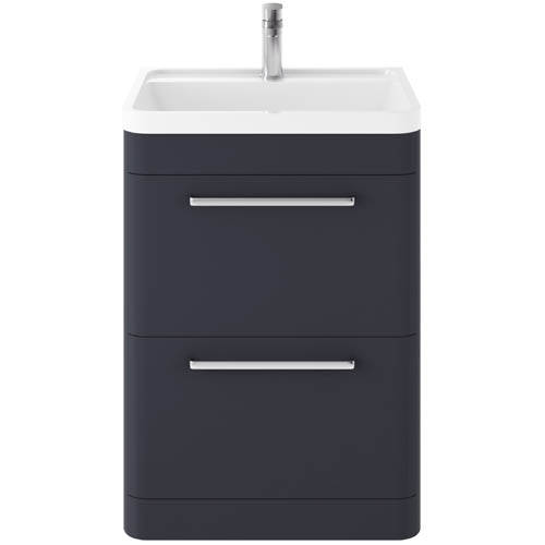 Additional image for Floor Standing Vanity Unit & Basin 600mm (Indigo Blue).