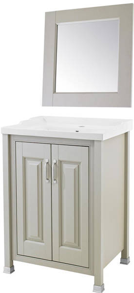 Additional image for 600mm Vanity & 600mm Mirror Pack (Stone Grey).
