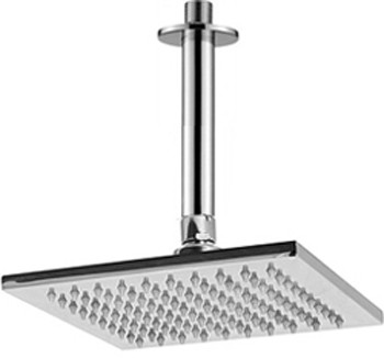 Additional image for Square Shower Head & Ceiling Arm (200x200mm, S Steel).