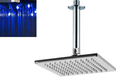 Additional image for Square LED Shower Head With Ceiling Arm (200x200mm).