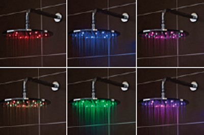 Additional image for LED Square Shower Head (300x300mm, Chrome).