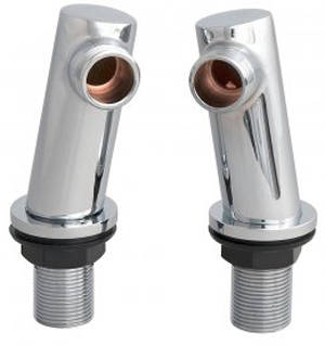 Additional image for Round Minimalist Inlet Legs (Chrome).