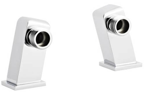 Additional image for Angled Square Minimalist Inlet Legs (Chrome).