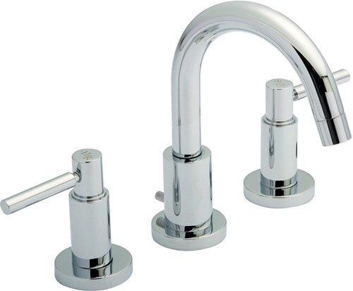3 Tap Hole Basin Tap With Small Spout Amp Lever Handles