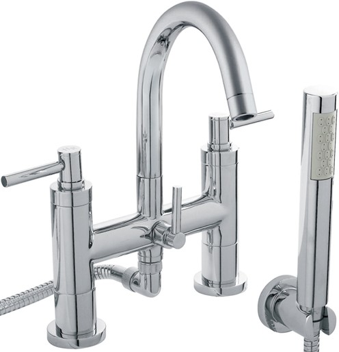 Additional image for Bath Shower Mixer Tap, Small Spout & Lever Handles.