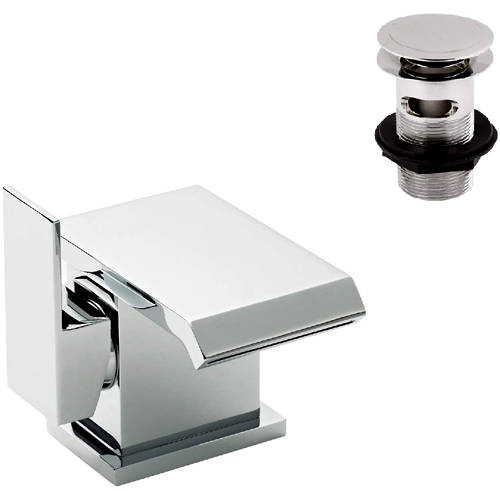 Additional image for Side Action Waterfall Basin Mixer Tap (Chrome).