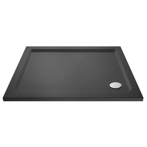 Additional image for Rectangular Shower Tray 1200x1000mm (Slate Grey).