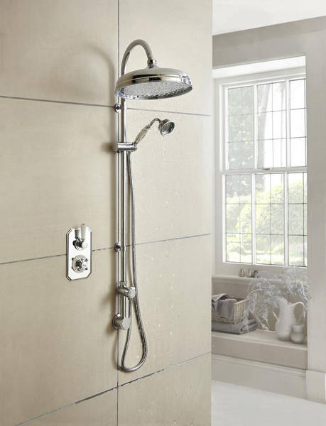 Additional image for Thermostatic Shower Valve With White Handle (1 Way).
