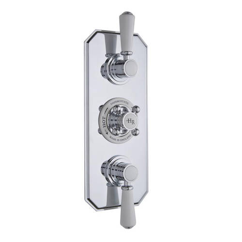Additional image for Thermostatic Shower Valve With White Handles (2 Way).