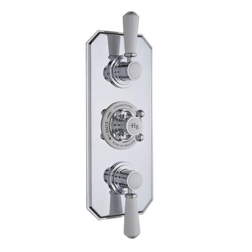 Additional image for Thermostatic Shower Valve With White Handles (3 Way).