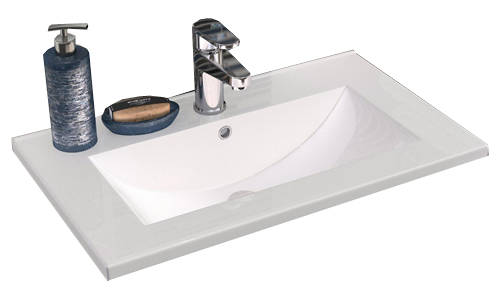 Additional image for 800mm Wall Vanity With 600mm WC Unit & Basin 2 (Cashmere).