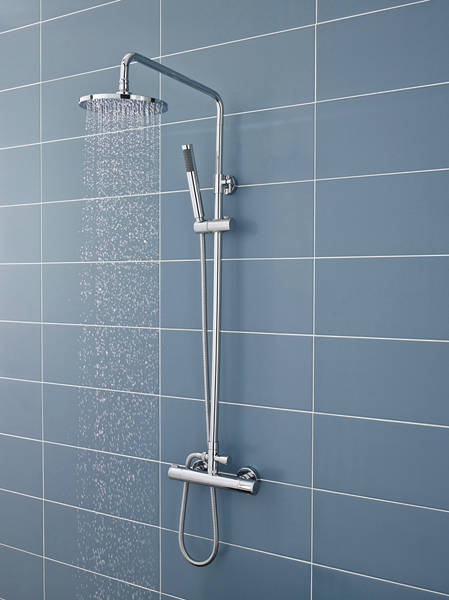 Additional image for Minimalist Thermostatic Bar Shower Valve & Telescopic Riser Kit.