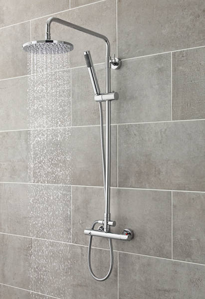 Additional image for Slimline Thermostatic Bar Shower Valve & Telescopic Riser Kit.