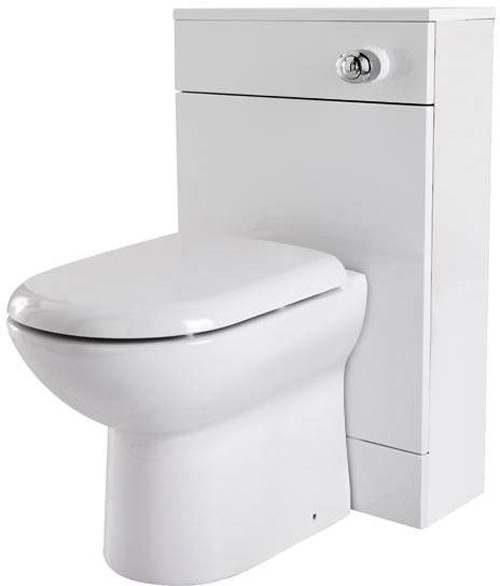 Additional image for Back To Wall WC Unit (White). 500x800mm.