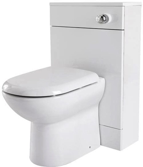 Additional image for Back To Wall WC Unit With Pan, Cistern & Seat (White). 500x800mm.