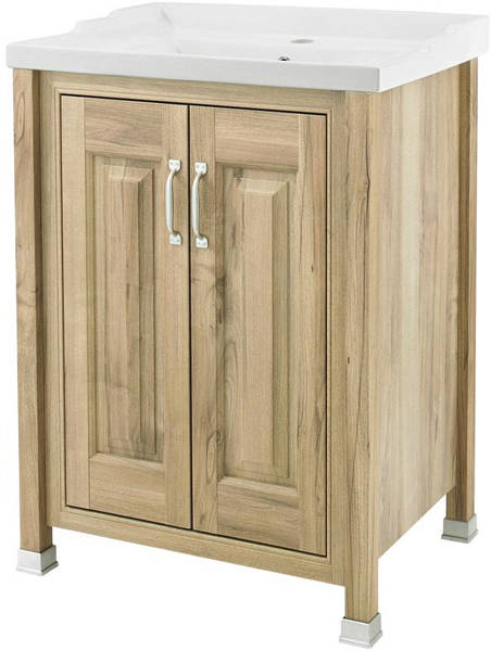 Additional image for 600mm Vanity, 600mm WC & Tall Unit (Walnut).