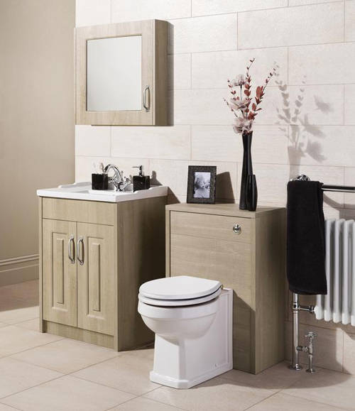 Additional image for 800mm Vanity Unit & 500mm WC Unit Pack (Oak).