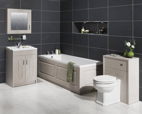 Additional image for 600mm Vanity, 500mm WC Unit & Mirror Cabinet Pack (Grey).