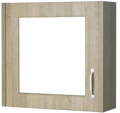 Additional image for 600mm Vanity, 500mm WC Unit & Mirror Cabinet Pack (Oak).