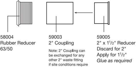 """Additional image for Standard Plumbing Assembly Set (1½"""")."""