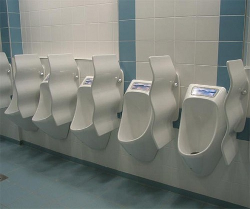 Additional image for 1 x Eco Plus Urinal With Trap & ActiveCube (Polycarbonate).