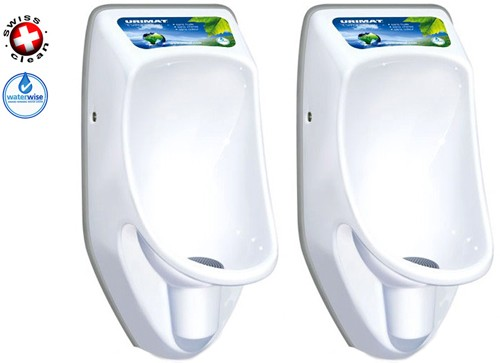 Additional image for 2 x Compact Plus Urinal, Trap & ActiveCube (Polycarbonate).