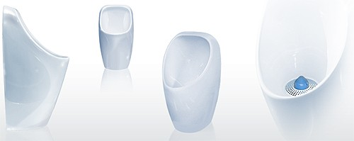 Additional image for 2 x Ceramic Compact Urinal With Trap & ActiveCube.