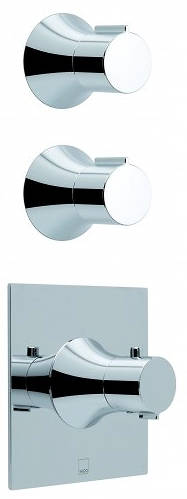 Additional image for 2 Or 3 Outlet Thermostatic Shower Valve Kit With Diverter.
