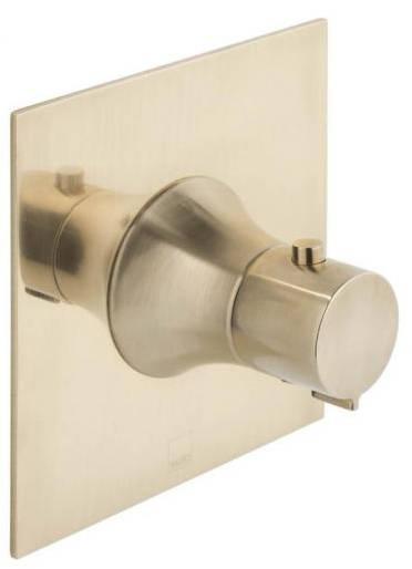 Additional image for Concealed Thermostatic Shower Valve (Brushed Gold).