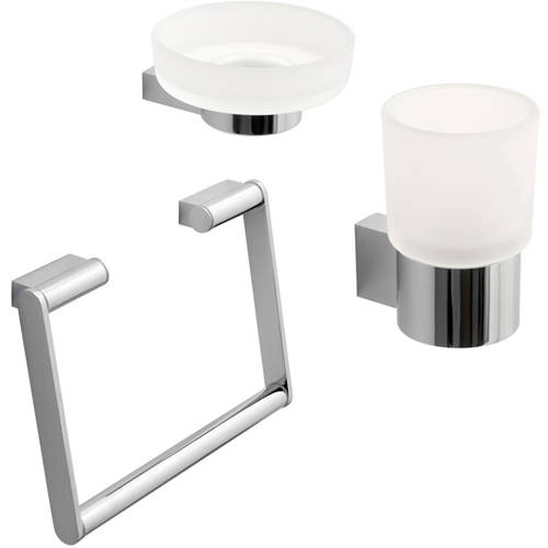 Additional image for Bathroom Accessories Pack A7 (Chrome).