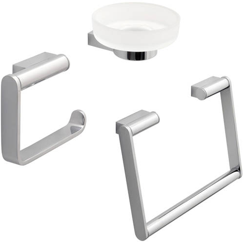 Additional image for Bathroom Accessories Pack A8 (Chrome).
