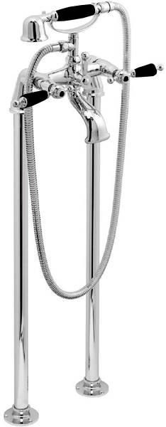 Additional image for Basin Taps & Floorstanding BSM Pack (Chrome & Black).