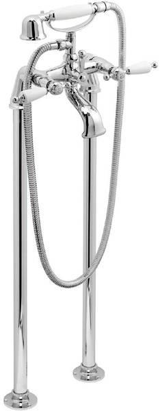 Additional image for Basin Taps & Floorstanding BSM Pack (Chrome & White).