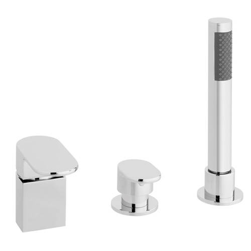 Additional image for 3 Hole Bath Shower Mixer Tap With Kit (Without Spout).