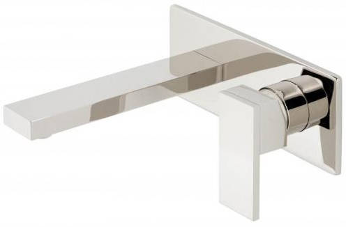 Additional image for Wall Mounted Basin Mixer Tap (Bright Nickel).