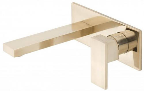 Additional image for Wall Mounted Basin Mixer Tap (Brushed Gold).