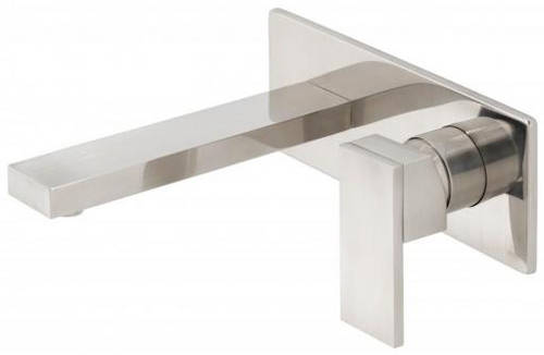 Additional image for Wall Mounted Basin Mixer Tap (Brushed Nickel).